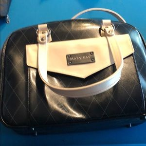 Black Mary Kay consultant bag/purse with products